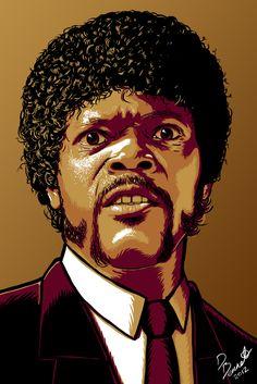 Jules Winnfield from Pulp Fiction. Art by me Daniel Bennett at Honcho-sfx.com