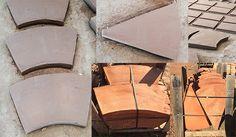 Piezas de de cerámica para la construcción de un molino  Productes de ceràmica rústica per a la construcció d'un molí.