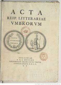 Acta Reip. litterariae Umbrorum | Gallica