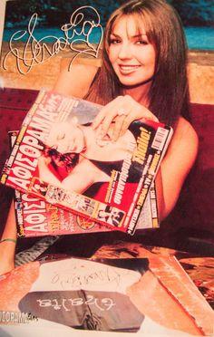 THALIA SODI RARE GLOSS CARD AUTOGRAPH poster reprint album sexy pic photo cd