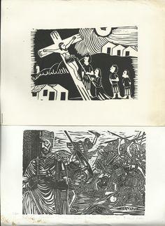 Nossa Senhora ao Pé da Cruz, xilogravura de Elosman…