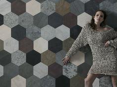 Rivestimento / pavimento in ardesia PALETTE ORIGAMI ATELIER by ARTESIA® / International Slate Company design Francesca Dondero