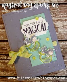 Julie Kettlewell - Stampin Up UK Independent Demonstrator - Order products 24/7: Magical Day Stamp Set
