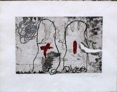 ANTONI TÀPIES  Gravat, Ed. 68/80  50 x 65 cm.