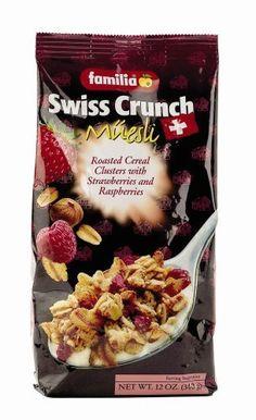 Familia Swiss Crunch Muesli, Clusters with Strawberries & Raspberries