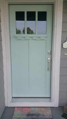 Home Renovation Front Door New farmhouse paint colors sherwin williams front porches ideas Front Door Paint Colors, Painted Front Doors, Exterior Paint Colors, Exterior House Colors, Paint Colors For Home, Nautical Paint Colors, Farmhouse Paint Colors, Beach Cottage Style, Beach House