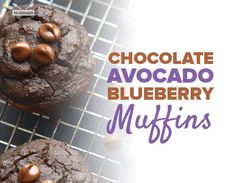 Looking for the perfect muffin? These creamy Paleo blueberry muffins are packed with avocado, blueberries and dark chocolate - an antioxidant dream. Paleo Blueberry Muffins, Blue Berry Muffins, Paleo Dessert, Delicious Desserts, Dessert Recipes, Healthy Desserts, Almond Flour Recipes, Coconut Flour, Sweet Breakfast