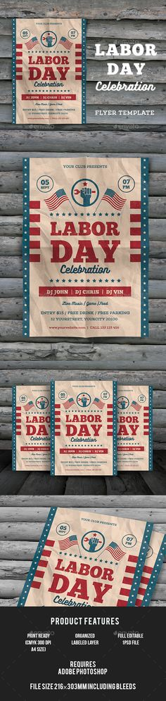Veterans Day Flyer Flyer template, Template and Event flyers - labour day flyer template