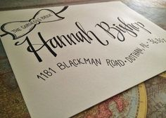 Hand Addressed Envelopes with Bow Banner