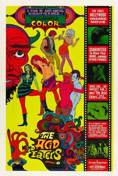 1968 Poster THE ACID EATERS