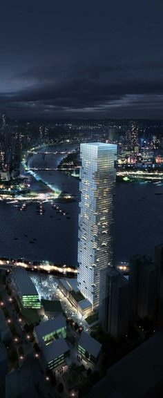 Chongqing River Tower, Chongqing, China by by Skidmore Owings & Merrill (SOM) Architects :: 70 floors, height 300m, proposal