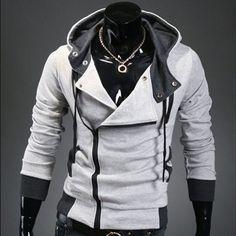 New Men's Thicken Warm Sweater Hoodie Side Zip Jacket Coat Long Sleeve Outerwear | eBay