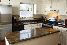 10 STEPS TO TRANSFORMING UGLY LAMINATE COUNTERTOPS INTO A BEAUTIFUL GRANITE LOOK