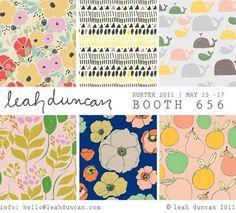 print & pattern: SURTEX 2011 - leah duncan. simple and effective show flyer.
