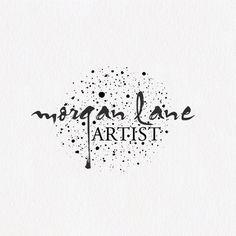 Premade Logo Design, Black Ink Splatter Logo, Artist Logo, Black Logo, Paint…