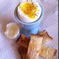 4 minute Egg & Sourdough Toast Sticks : )  www.godolcecucina.com
