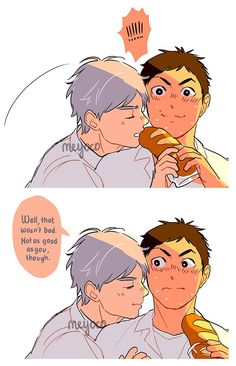 """Sugawara Koushi likes to play with his food. Haikyuu Kageyama, Hinata, Manga Haikyuu, Daichi Sawamura, Haikyuu Meme, Daisuga, Haikyuu Fanart, Kagehina, Sugawara Koushi"