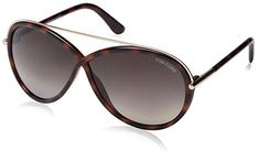 Womens Sunglasses |  Tom Ford Womens FT0454 Sunglasses Dark Havana *** Be sure to check out this awesome product.-It is an affiliate link to Amazon. #WomensSunglasses