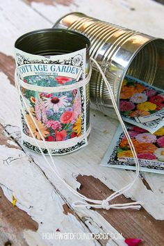 Happy May Day: Make flower baskets from Tin Cans! Happy May Day: Make flower baskets from Tin Cans! Tin Can Crafts, Crafts For Kids, Diy Crafts, Beach Crafts, Spring Crafts, Holiday Crafts, Spring Art, Holiday Ideas, May Day Baskets