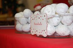 """Donut holes for """"snowballs"""" as a treat brought back from the North Pole by your Elf on a Shelf."""