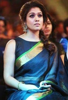 Nayanthara In Saree, Nayanthara Hairstyle, South Actress, South Indian Actress, Beautiful Indian Actress, Trisha Saree, Nayantara Hot, Saree Designs Party Wear, Punjabi Culture