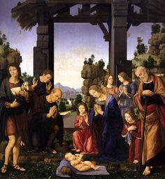 Lorenzo Di Credi, Adorazione dei pastori, 1510 circa, Galleria degli Uffizi, Firenze