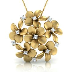 Plumeria Jewellery Design Caratlane Pendant Set, Diamond Pendant, Pendant Jewelry, Jewelery, Silver Jewelry, Pendant Necklace, Gold Set, Gold Gold, Gold Ring