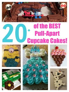 Over 20 of the BEST Pull-Apart Cupcake Cake Ideas - these are adorable ideas that are very easy to make for parties, weddings, & kids birthday parties!