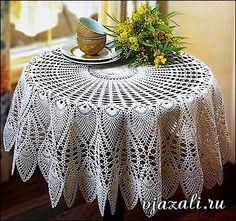 Crochet doily - crochet doilies - Crochet tablecloth - Home decor - White crochet doilies - Handmade tablecloth by DoiliesbyElena on Etsy Crochet Diagram, Filet Crochet, Crochet Motif, Crochet Doilies, Crochet Lace, Peacock Crochet, Russian Crochet, Crochet Tablecloth Pattern, Crochet Bedspread
