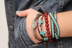 bracelet stack turq 100