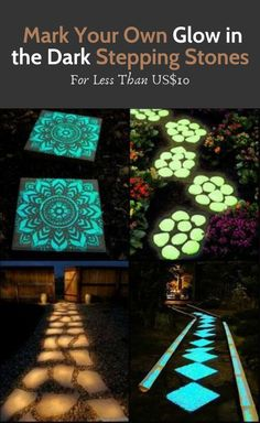 Light Up Your Garden Pathway by Making Glow in the Dark Stepping Stones! - Light Up Your Garden Pathway by Making Glow in the Dark Stepping Stones! Light Up Your Garden Pathway by Making Glow in the Dark Stepping Stones! Backyard Projects, Backyard Patio, Garden Projects, Backyard Landscaping, Diy Projects, Backyard Ideas, Landscaping Ideas, Patio Redo Ideas, Back Yard Patio Ideas