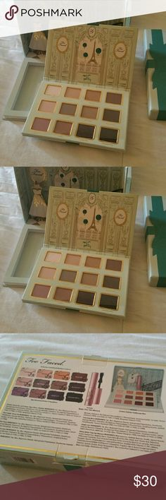"""Too Faced collectors makeup palette Too Faced """"La Petite Maison"""" limited edition dollhouse box.  Eyeshadow Never used but the mascara was removed. Too Faced Makeup Eyeshadow"""