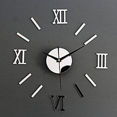 Chinatera Modern Mute DIY Large Wall Clock 3D Sticker Home Office Decor Gift (silver) by Chinatera: Amazon.co.uk: Kitchen & Home
