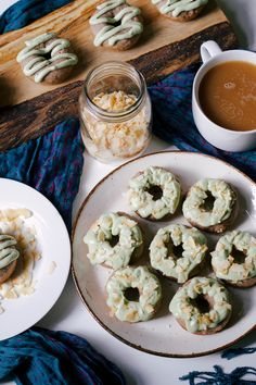 Mini Strawberry Donuts w/ Matcha Coconut Cream — SPICE + SPROUT