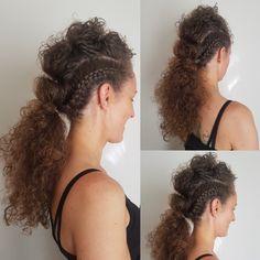 Mohawk braided style #braids #mohawk #curlyhair #coolhair