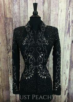 Jet Black and Gunmetal Jacket by Lindsey James ~ Ladies XS