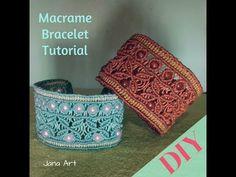 Macrame Tutorial: bracciale a fascia con perle - YouTube