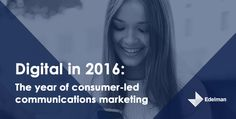 Our digital marketing forecast predicts that consumers will become the priority central marketing function in This year marks the rise of the Consumer Marketing Director. Consumer Marketing, Social Media Marketing, Digital Marketing, Digital Trends, Public Relations, Research, Leadership, Insight, Tech