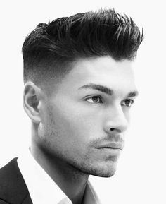 Not a shiny high top pompadour, but the tousled, perfectly imperfect balanced spot in between. It's the quick style for a guy to quickly sweep the bangs off his forehead and to have his hair arrange itself into a photo-ready coif. The classic side parting is a definite winner for the business world that brings out the gentlemen in every guy, a timeless style.