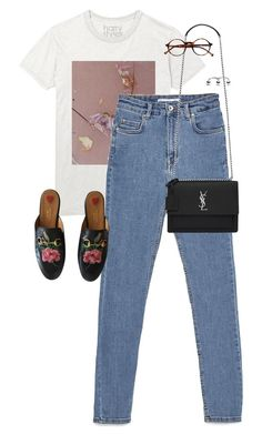 """Untitled #13442"" by alexsrogers ❤ liked on Polyvore featuring Gucci, Yves Saint Laurent and Retrò"