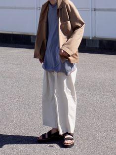 春夏っぽい色合わせにしてみました◎ インスタもお願いします! @osayu912abc Normcore, Pants, How To Wear, Style, Fashion, Trouser Pants, Swag, Moda, Trousers