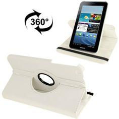 Samsung Galaxy Tab 3 (8.0) PU lederen cover, case, hoes 360 draaibaar wit