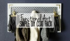 Looking for organization AND style? This DIY coat rack provides both on a budget and is the perfect entry-level DIY project for your entryway. Entryway Organization, Entryway Ideas, Garage Entryway, Peg Hooks, Diy Coat Rack, Standing Coat Rack, Small Entryways, White Spray Paint, Hallway Decorating