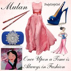 """Disney Style: Mulan (Disney Princess Designer Collection)"" by trulygirlygirl on Polyvore"
