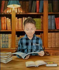 La biblioteca, un lugar para investigar, estudiar, aprender, conocer… Ven a la biblio!!! (ilustración de Tatiana Zappa)