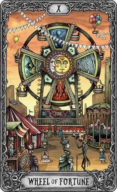 The Dark Mansion Tarot - Large Version of the cards in the Carton Box- Click on the picture to see Illustration Photo, Illustrations, Celtic Cross Tarot, Wheel Of Fortune Tarot, Tarot Meanings, Tarot Major Arcana, Love Tarot, Learn Art, Tarot Readers