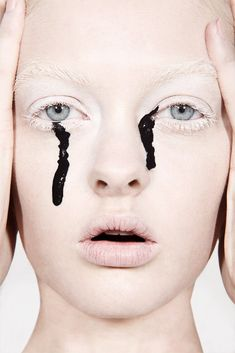 Paint Dripping Makeup Smearing Makeup Mascara Running Dani Lundquist | NEW YORK FASHION BEAUTY PHOTOGRAPHER- EDITORIAL COMMERCIAL ADVERTISING PHOTOGRAPHY