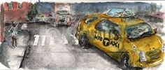 Taxi, NYC by Peter Koval