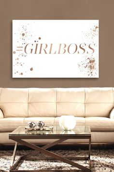 Oliver Gal Exclusive Girl Boss Canvas Wall Art on @HauteLook