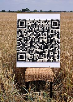 #www.qr-3d.weebly.com #qr #3d #code #collaborative #felting #balls #wool